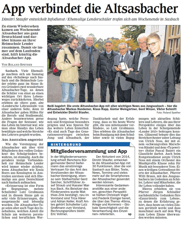 Altsasbachertag 20.10.2015 ARZ
