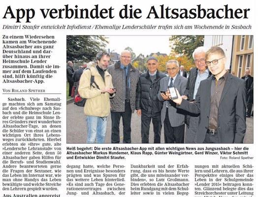 Altsasbachertag 2015