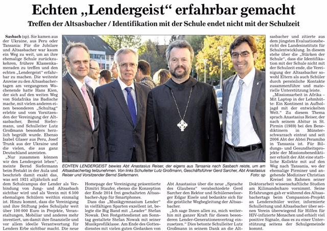 Altsasbachertag 21.10.2014 ABB
