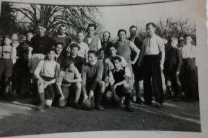 U II G - März 1949 - Fußball Lehrer - Schüler